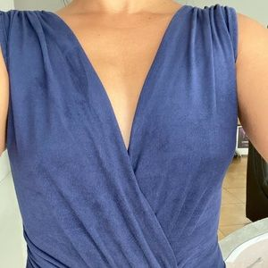 Navy blue dress. Worn one time. Comfortable. Sexy.